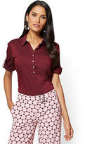 New York & Co. 7th Avenue - Madison Stretch Shirt - Maroon