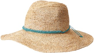 Ale By Alessandra Women's Cody Crochet Raffia Sunhat Packable Adjustable & UPF Rated