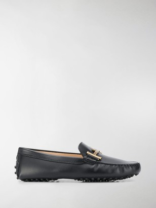 Tod's Gommino engraved logo driving shoes