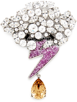 Marc Jacobs Strass Cloud & Bolt Brooch