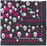 Alexander McQueen skull and star print scarf