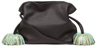Loewe Flamenco Tasselled Leather Cross-body Bag - Black Green