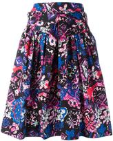 Marc Jacobs printed ruffled skirt - women - Cotton/Spandex/Elastane - 4