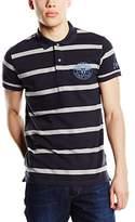 Wrangler Men's Pique Striped Short Sleeve Polo Shirt