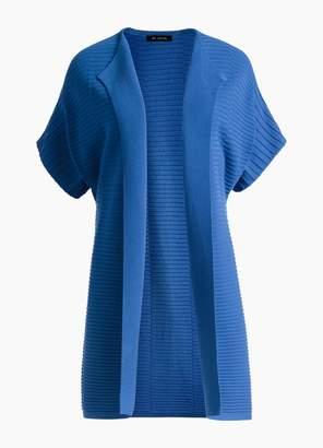 St. John Variegated Engineered Rib Knit Dolman Sleeve Cardigan