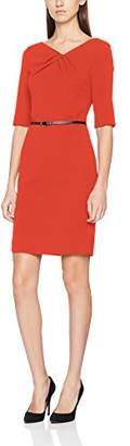 S'Oliver BLACK LABEL Women's 11.802.82.7440 Dress, (Flame red 3060), 6