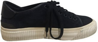 Moncler Blue Suede Trainers