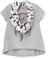 KensieGirl Heather Gray Dream Catcher Top & Scarf - Toddler & Girls
