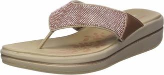 Skechers Women's Upgrades-Stone Cold-Rhinestone Thong Flip-Flop