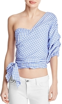 MLM Label Gingham One Shoulder Top - 100% Exclusive