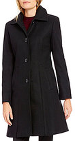 Preston & York Single Breasted Fit-and-Flare Wool Coat