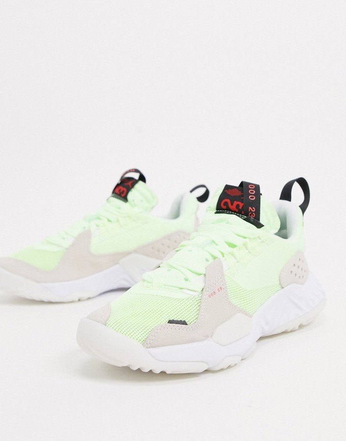 Jordan Delta trainers in grey and neon