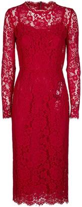 Dolce & Gabbana Long Sleeve Lace Dress