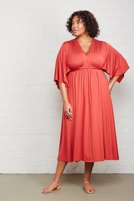 White Label Mid-Length Caftan Dress - Plus Size