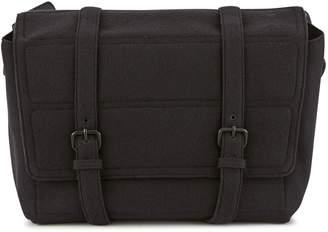 Dries Van Noten Flannel messenger bag
