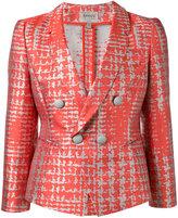 Armani Collezioni dogtooth patterned blazer