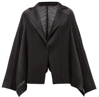 Pleats Please Issey Miyake Single-breasted Technical-pleated Blazer - Black