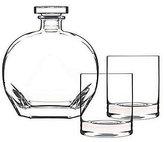 Luigi Bormioli Classico 3-Piece Whiskey Decanter & Double Old Fashioned Set