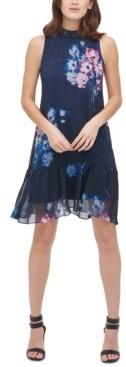 DKNY Sleeveless High-Neck Shift Dress