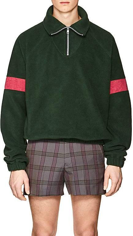 Gosha Rubchinskiy Men's Quarter-Zip Fleece Pullover