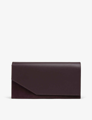 LK Bennett Demi two-tone leather clutch bag