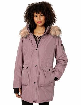 Madden-Girl Women's Plus Size Multi Pocket Insulated Coat