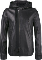 Diesel Black Gold hooded jacket - men - Leather/Viscose - 48