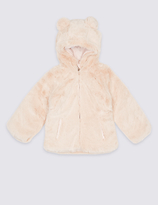 Marks and Spencer Reversible Faux Fur Coat (3 Months - 7 Years)