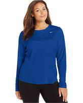 Nike Plus Size Long-Sleeve Dri-FIT Running Top