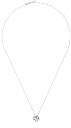 Suzanne Kalan 18kt white gold Cluster diamond necklace