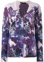 Roberto Cavalli floral print cardigan - women - Silk/Cashmere/Wool - 42