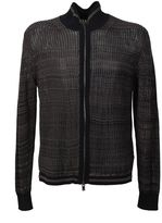 Maison Margiela Brown And Black Cotton Cardigan