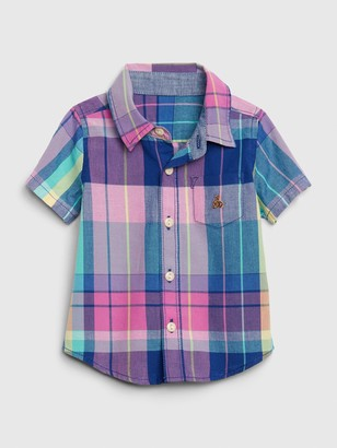 Gap Baby Plaid Button-Down Shirt