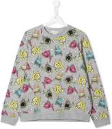 Stella McCartney TEEN fish print sweatshirt
