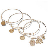 New York & Co. Goldtone Charm Bracelet Set