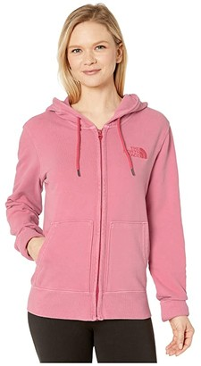 The North Face Berkeley Full Zip Hoodie (Sunbaked Red Light Wash) Women's Clothing