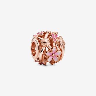 Pandora Openwork Pink Daisy Flower Charm