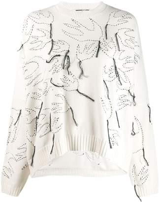 McQ fringe swallow sweater