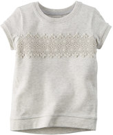 Carter's Girls 4-8 Crochet Lace Front Top