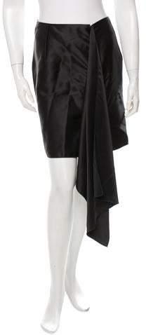 Maison Rabih Kayrouz Draped Mini Skirt