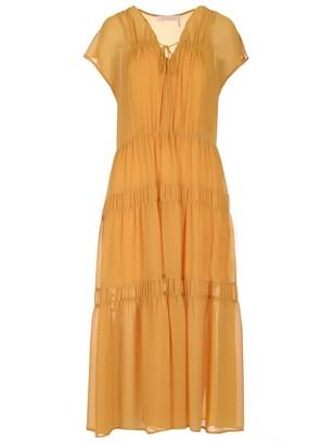 See by Chloe Tiered Sheer Dress