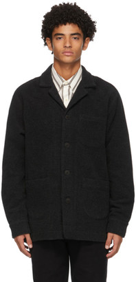 Schnaydermans Grey Merino Wool Notch Jacket