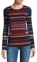 BCBGMAXAZRIA Knit Striped Top