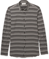 Saint Laurent - Slim-fit Skeleton-print Voile Shirt