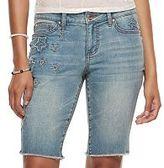 Candies Juniors' Candie's® Embroidered Star Jean Bermuda Shorts
