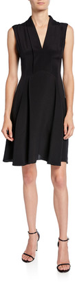 Derek Lam Scarf-Neck Dress