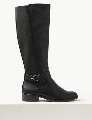 M&S CollectionMarks and Spencer Elastic Back Rider Knee Boots