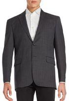 Saint Laurent Windowpane Wool Jacket