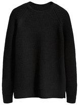 Levi's Made & Crafted Waffle Knit Crew Neck Jumper, Black