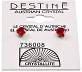 Crystallite Destine Heart-Shaped Austrian Crystal Earrings